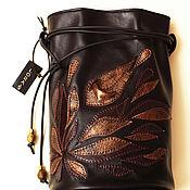 Сумки и аксессуары handmade. Livemaster - original item Small Black Leather Bag Modern Evening Shoulder Handmade Crossbody Sac. Handmade.