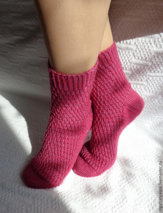 Носки, чулки ручной работы. Носки вязаные. Носочки вязаные «Кьянти» из коллекции «Подарки». Olgafrancesca . Ярмарка мастеров.