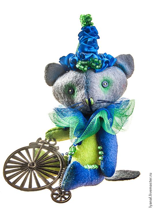 Мишки Тедди ручной работы. Ярмарка Мастеров - ручная работа. Купить мини-котик клоун. Handmade. Кот, кот тедди