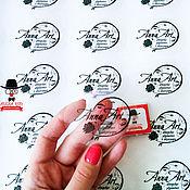 Материалы для творчества ручной работы. Ярмарка Мастеров - ручная работа Прозрачные наклейки на виниле с логотипом. Handmade.