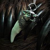 Русский стиль handmade. Livemaster - original item Fang of a Wolf in silver. Handmade.