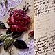 """Картины цветов ручной работы. Заказать """"Роза и письмена"""". Magdalina Магдалина (magdalinasolo). Ярмарка Мастеров. Подарок девушке, объемный декупаж"""