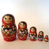 Русский стиль handmade. Livemaster - original item Matryoshka 5 local Floral small 9. Handmade.