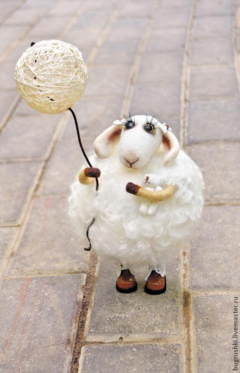 Игрушки животные, ручной работы. Ярмарка Мастеров - ручная работа. Купить Овечка Одуванчик. Handmade. Овечка, одуванчики, аксессуары