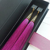 Tassel earrings handmade. Livemaster - original item Earring of the brush