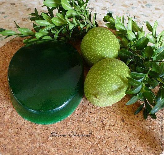 """Мыло ручной работы. Ярмарка Мастеров - ручная работа. Купить Мыло для мужчин """"Крепкий орешек"""". Handmade. Тёмно-зелёный, кедр"""