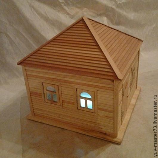 Кукольный дом ручной работы. Ярмарка Мастеров - ручная работа. Купить кукольный домик.. Handmade. Желтый, игрушка, клей