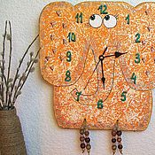 Для дома и интерьера handmade. Livemaster - original item Wall clock baby Elephant, handmade watches. Handmade.