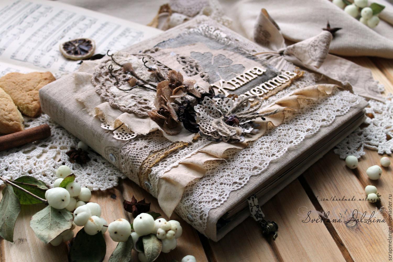 Book culinary c delimiters vintage beige flowers lace, Recipe books, Tyumen,  Фото №1