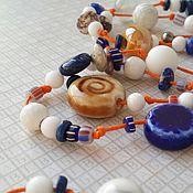 Украшения handmade. Livemaster - original item Beads on a cotton cord About summer. Handmade.