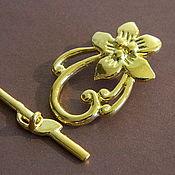 Материалы для творчества handmade. Livemaster - original item Castle gold plated toggle