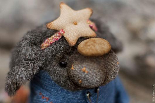 Мишки Тедди ручной работы. Ярмарка Мастеров - ручная работа. Купить звёздный пёс. Handmade. Темно-серый, опилки древесные