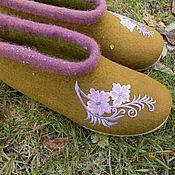 """Обувь ручной работы. Ярмарка Мастеров - ручная работа Тапочки """"На каждый день"""". Handmade."""