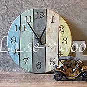 Для дома и интерьера ручной работы. Ярмарка Мастеров - ручная работа часы из дерева. Handmade.