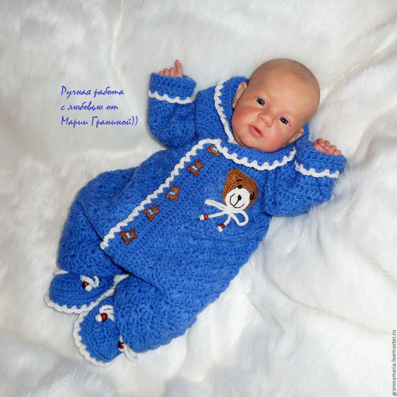 Вязание крючком на мальчика новорожденного 951