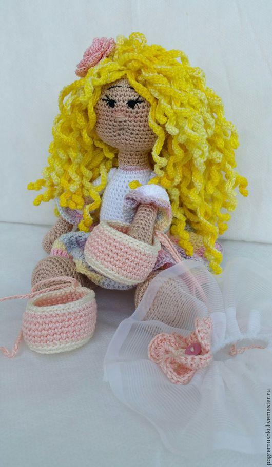 Развивающие игрушки ручной работы. Ярмарка Мастеров - ручная работа. Купить Кукла Балерина. Handmade. Белый, Вязание крючком