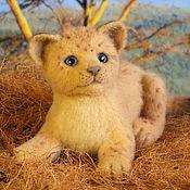 Куклы и игрушки handmade. Livemaster - original item lion cub (toy made of felt, felting). Handmade.