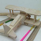 Куклы и игрушки ручной работы. Ярмарка Мастеров - ручная работа Деревянный самолётик №2. Handmade.