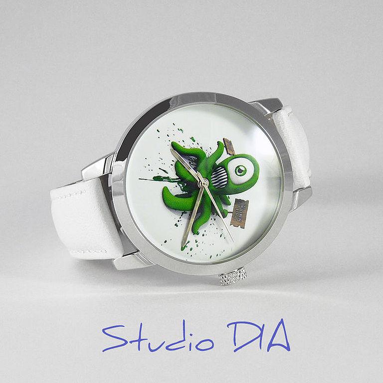 Часы. Наручные Часы. Оригинальные Дизайнерские Часы Осьминог. Студия Дизайнерских Часов DIA.