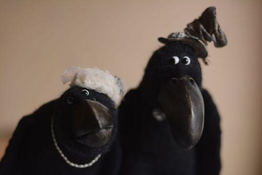 Сказочные персонажи ручной работы. Ярмарка Мастеров - ручная работа. Купить Карл и Клара. Handmade. Черный, войлок, текстиль