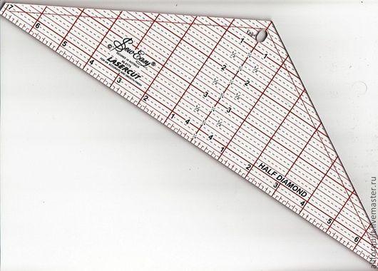 Шитье ручной работы. Ярмарка Мастеров - ручная работа. Купить линейка для пэчворка. Треугольная, 120 градусов. Handmade. Линейка, инструменты