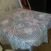 Для дома и интерьера ручной работы. Ярмарка Мастеров - ручная работа Вязаная скатерть спицами. Handmade.