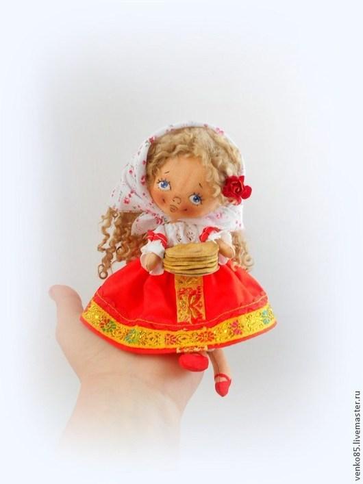 Коллекционные куклы ручной работы. Ярмарка Мастеров - ручная работа. Купить Чудо на ладошке Масленничка. Handmade. Масленница, кукла масленница