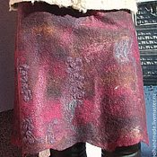 Одежда handmade. Livemaster - original item Skirt wool Winter cherry. Handmade.