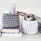 Для дома и интерьера ручной работы. Ярмарка Мастеров - ручная работа Интерьерная корзина малая. Handmade.