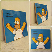 """Картины и панно ручной работы. Ярмарка Мастеров - ручная работа Картинка """"Гомер Симпсон"""". Handmade."""
