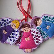 Подарки к праздникам ручной работы. Ярмарка Мастеров - ручная работа Ангелочки на ёлку. Handmade.