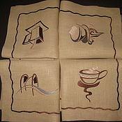 Для дома и интерьера handmade. Livemaster - original item Set linen napkins for Breakfast