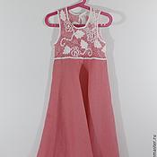 Работы для детей, ручной работы. Ярмарка Мастеров - ручная работа Платье Розовый ажур. Handmade.