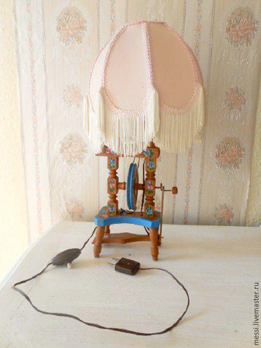 Винтажные предметы интерьера. Ярмарка Мастеров - ручная работа. Купить Лампа настольная, прялка, Бавария, 50-е годы, винтаж. Handmade.
