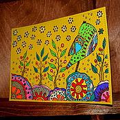 """Канцелярские товары ручной работы. Ярмарка Мастеров - ручная работа Обложка на паспорт """"Весенняя песня"""". Handmade."""