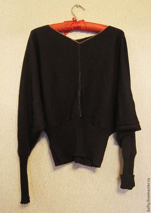 Кофты и свитера ручной работы. Ярмарка Мастеров - ручная работа. Купить Кофта женская коричневая с рукавами вязанная. Handmade. Коричневый