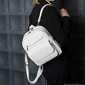 Сумки и аксессуары handmade. Livemaster - original item Backpack leather womens white Snezhana Mod R29-141. Handmade.