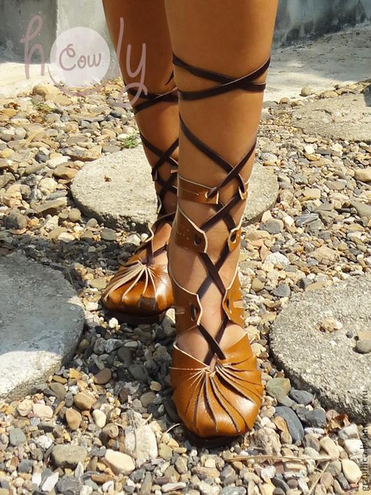 """Обувь ручной работы. Ярмарка Мастеров - ручная работа. Купить Кожаные сандалии ручной работы """"Super Sexy"""". Handmade. Коричневый"""