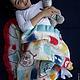 """Пледы и одеяла ручной работы. Валяное одеяло """" Маленькая Миа и цветные сны"""". Маш Папян (Mashpapyan). Интернет-магазин Ярмарка Мастеров."""