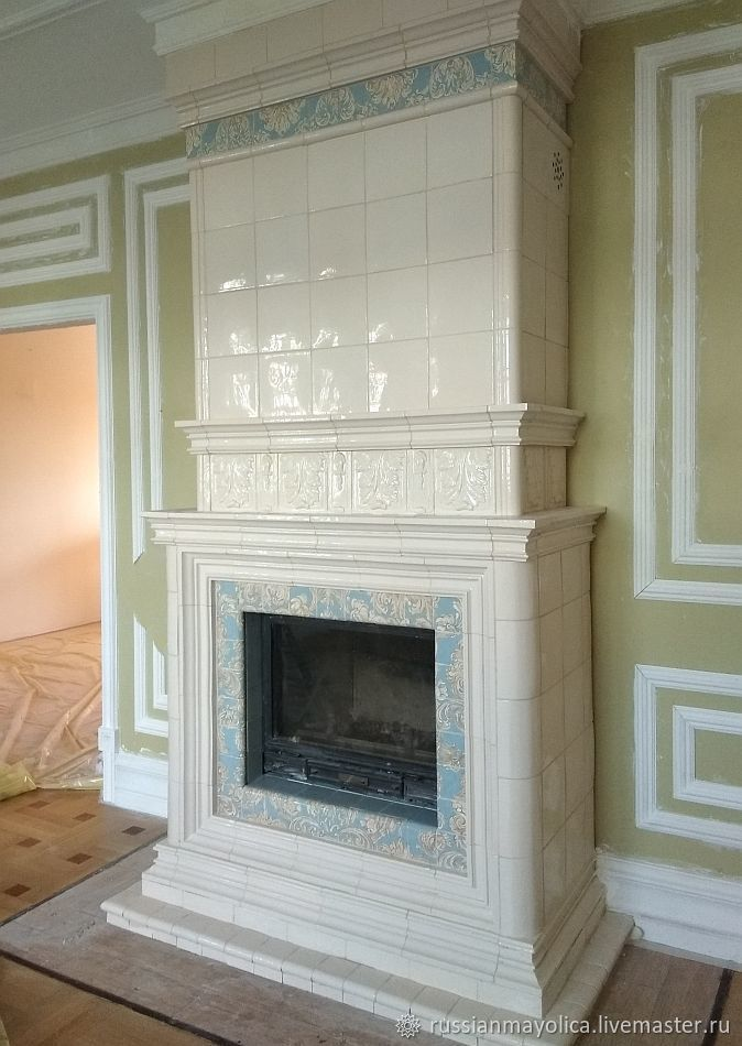 Biedermeier tiled fireplace, Fireplaces, Moscow,  Фото №1
