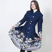 Одежда ручной работы. Ярмарка Мастеров - ручная работа Пальто синее Осенние облака. Handmade.