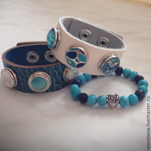 Браслеты ручной работы. Ярмарка Мастеров - ручная работа. Купить Стильный комплект из браслетов. Handmade. Браслет из камней, браслеты, нуса