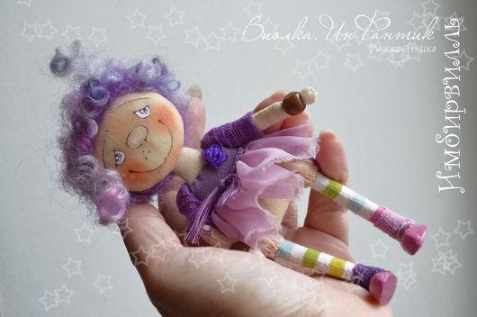 Коллекционные куклы ручной работы. Ярмарка Мастеров - ручная работа. Купить Грезы во сне и наяву. Инфантик Виолка. Маленькая куколка. Handmade.