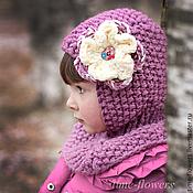 Работы для детей, ручной работы. Ярмарка Мастеров - ручная работа Вязаная шапочка -шлем «Pudding». Handmade.
