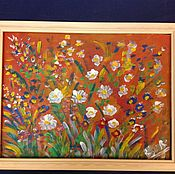 Картины и панно handmade. Livemaster - original item Flower palette(30х40) Discount!. Handmade.