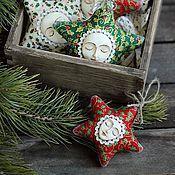 """Подарки к праздникам ручной работы. Ярмарка Мастеров - ручная работа Новогодняя игрушка """"Звездочка малая"""". Handmade."""