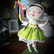 Куклы и игрушки ручной работы. Ярмарка Мастеров - ручная работа текстильная кукла Стеша. Handmade.
