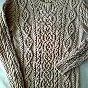 Одежда ручной работы. Ярмарка Мастеров - ручная работа Аранский пуловер, авторская работа. Handmade.