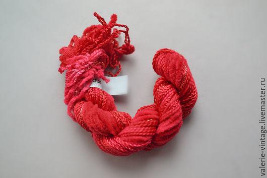 Вышивка ручной работы. Ярмарка Мастеров - ручная работа. Купить Микс из 5 различных нитей для вышивки. Handmade. Ярко-красный