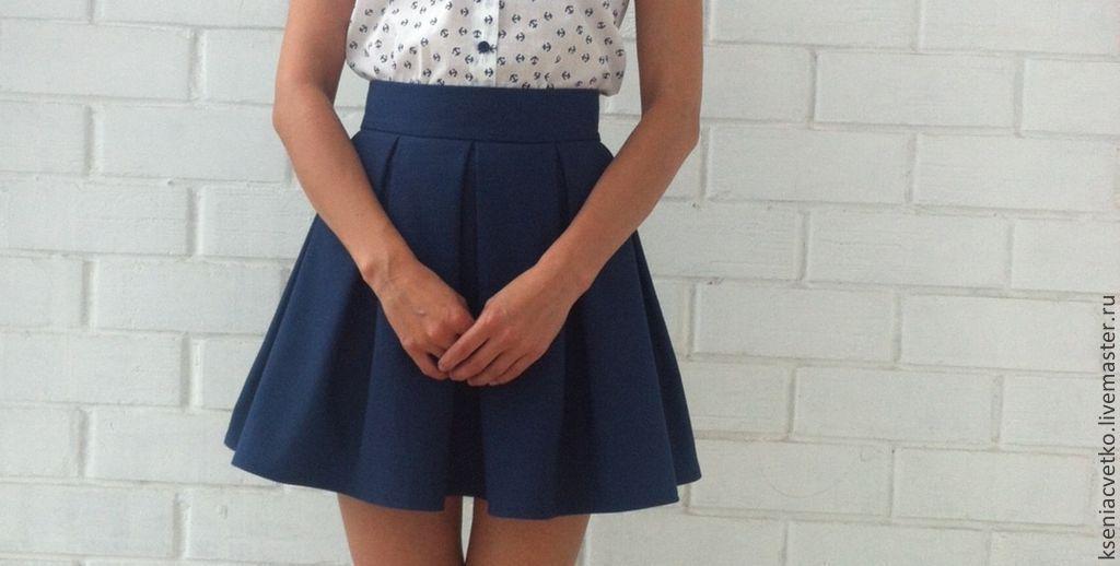 Как сшить юбку в складку короткую